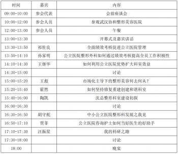 中国公立医院整形外科科室管理与改革发展高峰会议